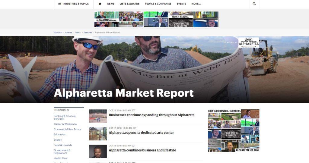 Alpharetta Market Featured In The Atlanta Business